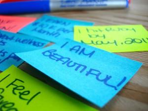 sticky note affirmations