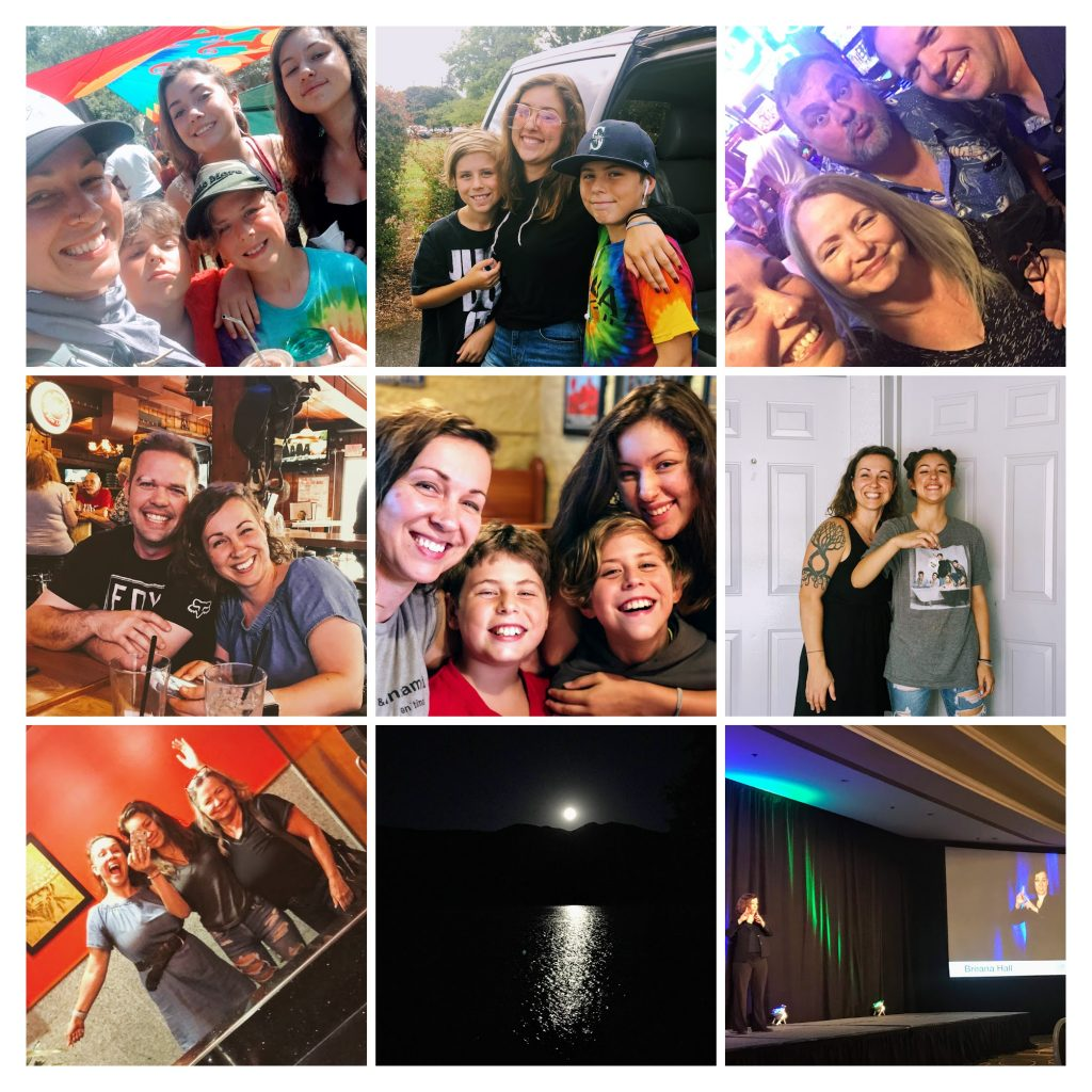 2018 Year in Review. Nine photos in a collage that symbolize Breana's year.