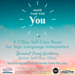 Interpretek. Interpretek is an approved RID sponsor for Continuing Education Activities. This General Studies program is offered for 0.3 CEUs at the Little/None Content knowledge level. RIC. ACET. @brighterfocus